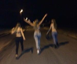 friends, night, and dark image