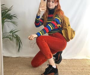 80s, colored jeans, and glasses image