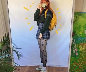 80s, plaid, and skirt image