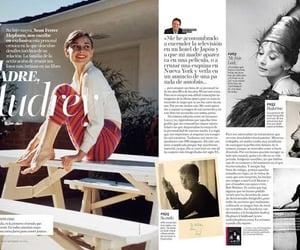 audrey hepburn, fashion, and magazine image