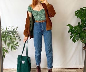 boots, green, and jacket image