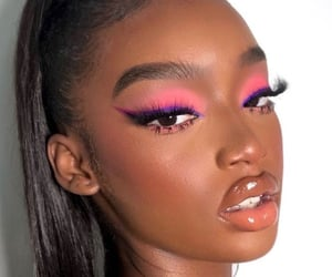 makeup, melanin, and beautiful image