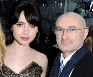 lily collins, phil collins, and mirror mirror image