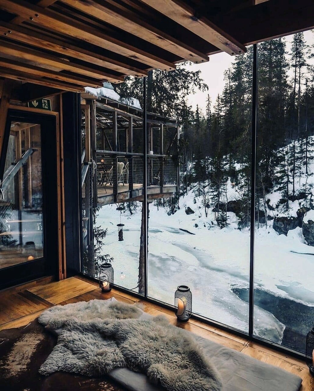 snow, winter, and home image