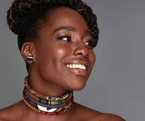 African, choker, and earrings image