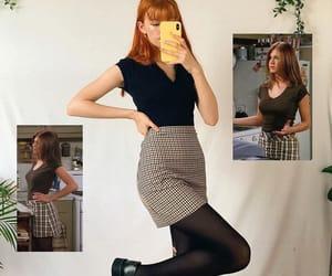 fashion, outfits, and plaid skirt image