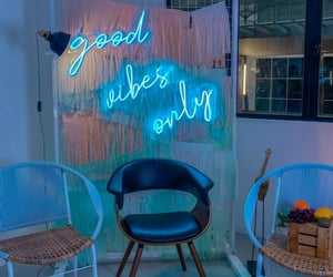 blue, deco, and good vibe image