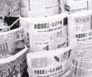 aesthetic, black, and newspaper image
