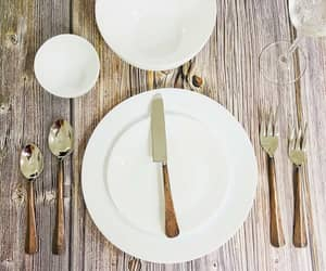 hammered flatware sets and contemporary dinnerware image