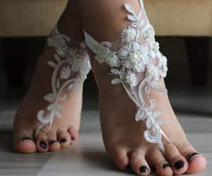 etsy, weddings, and barefoot sandals image