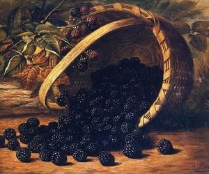 basket, blackberries, and fruit image