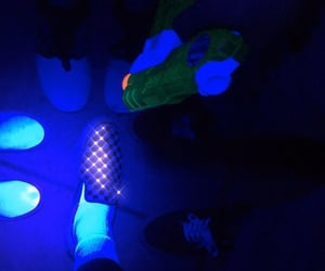 vans, blue, and neon image