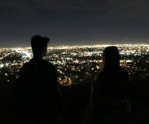 couple, city, and night image