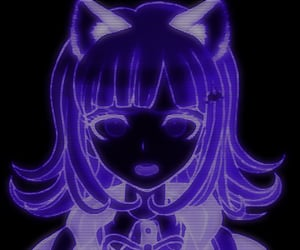 aesthetic, cat ears, and cyber image