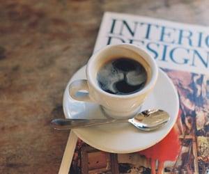 coffee, vintage, and magazine image