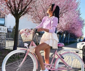 aesthetic, cherry blossom, and fashion image