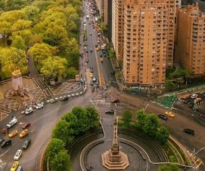 columbus circle, manhattan, and new york image