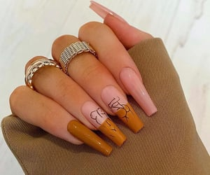 brown, woman, and nailart image