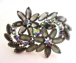 brooches, juliana style, and jet black cabochons image