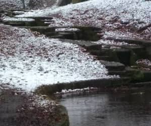 river, snow, and steps image