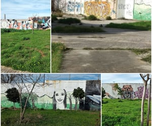 art, Collage, and walk image