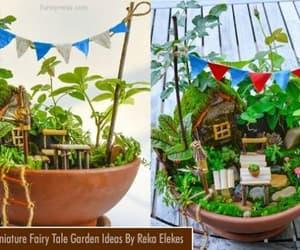 miniature art, fairy tale garden, and miniature garden image
