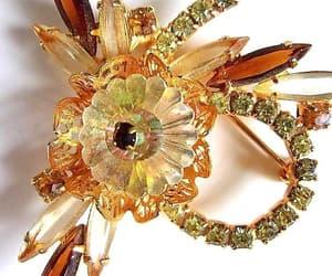 juliana jewelry, etsy, and rhinestone flower image