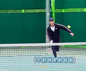 gif, bangtan, and tennis image