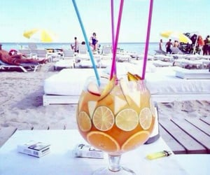 beach, Cocktails, and drinks image