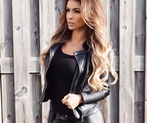 biker, chic, and leather image