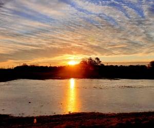 lake, sun, and delaware image