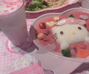 drink, hello kitty, and sanrio image
