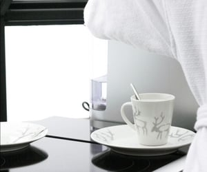 decor, winter, and coffee image
