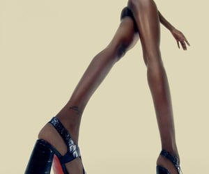 black, editorial, and high heels image