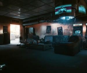 couch, cyberpunk, and hideout image