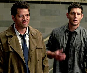 dean winchester, misha collins, and gif image
