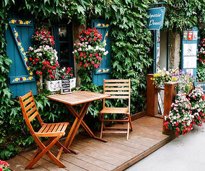 flowers, indie, and chair image