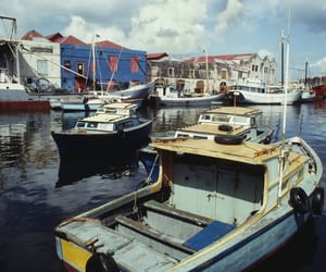 city, barbados, and boat image
