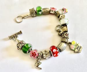 charm bracelet, costume jewelry, and vintage charms image