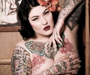 tattoed girl, Tattoos, and alternative style image