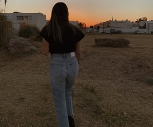 aesthetic, jeans, and sunset image