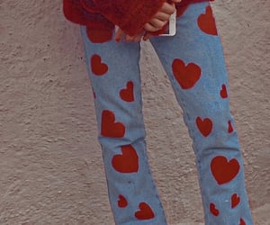 hearts, jeans, and theme image