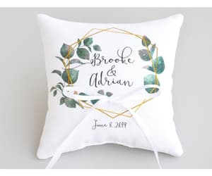 etsy, wedding pillow, and bridal shower gift image