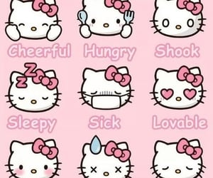 pink, sanrio, and hello kitty image