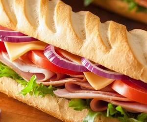 food, yummy, and sandwich image