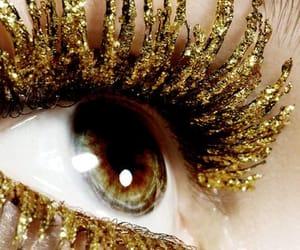 glitter, eyes, and lashes image