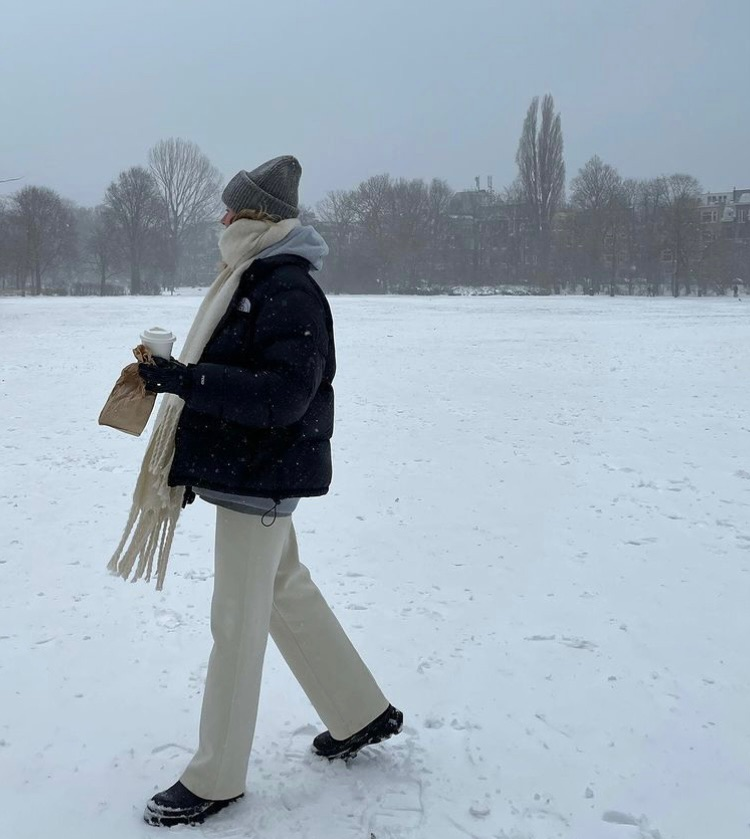life, snow, and street style image