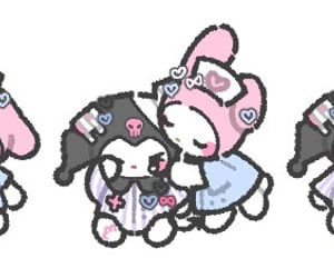 banner, kuromi, and my melody image