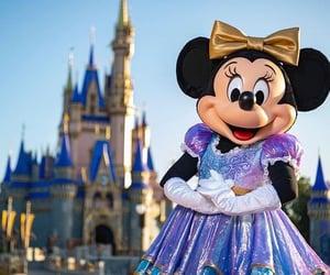 minnie mouse, disney, and magic kindom image