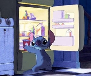 stitch, food, and disney image